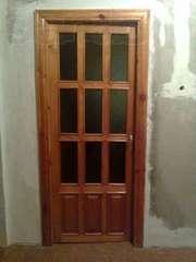 Продам комплект деревянных межком. дверей бу для 3-х ком.квартиры